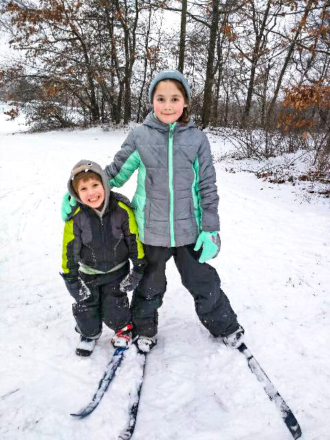 Shen Nordic's Bill Kochers had fun skiing and crashing in the snow, 2018.   Carrie Buetow