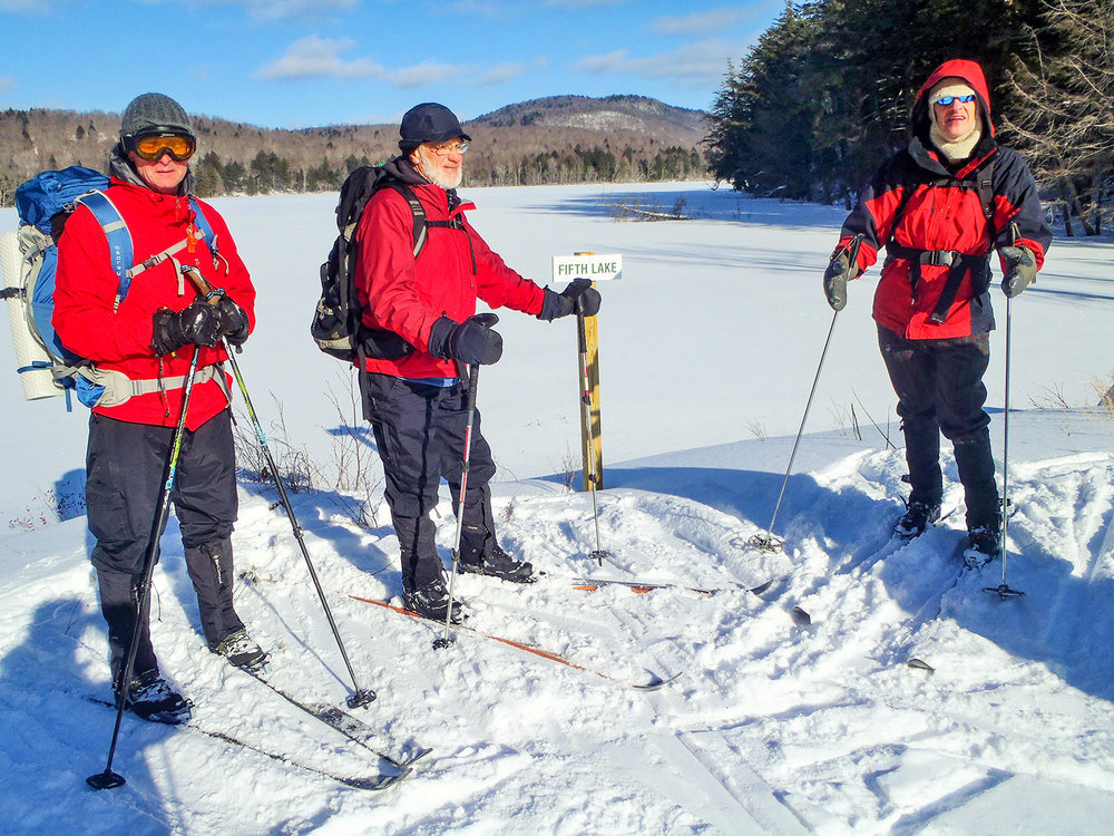 Enjoying a sunny ski day at the Essex Chain of Lakes.   Photo by Rich Macha