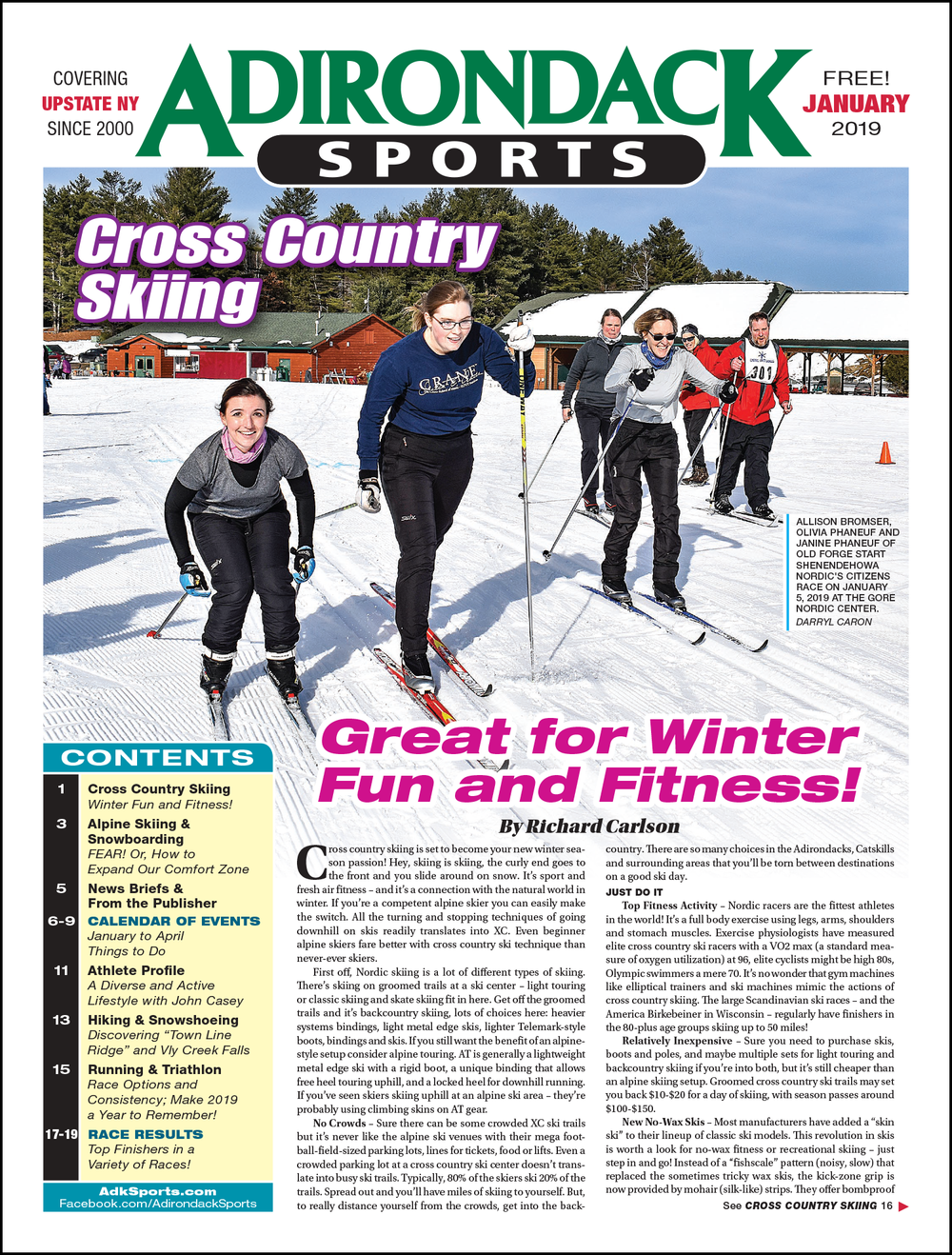 January 2019 - Read Articles / View PDF