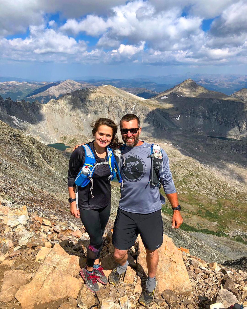 Summer of a 14er in Colorado.