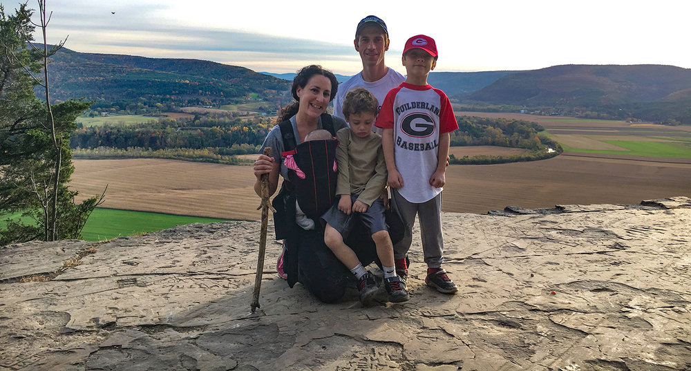O'Grady family from the lookout with spectacular panoramic views.  Tom O'Grady