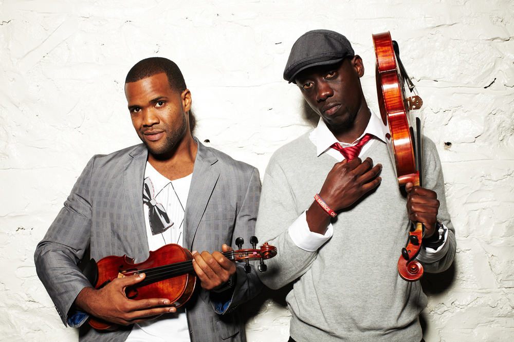 Kevin Sylvester and Wilner Baptiste of Black Violin