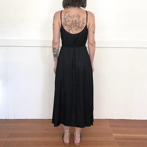 6a6ddfe330d1 TANK WRAP DRESS - BLACK — Ali Golden