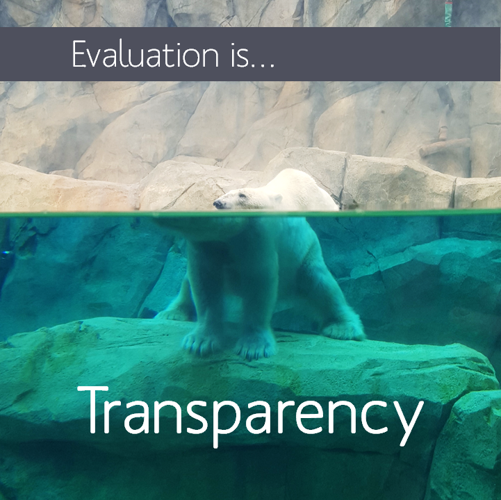 Evaluation increases transparency, so you don't have to guess what goes on beneath the surface.