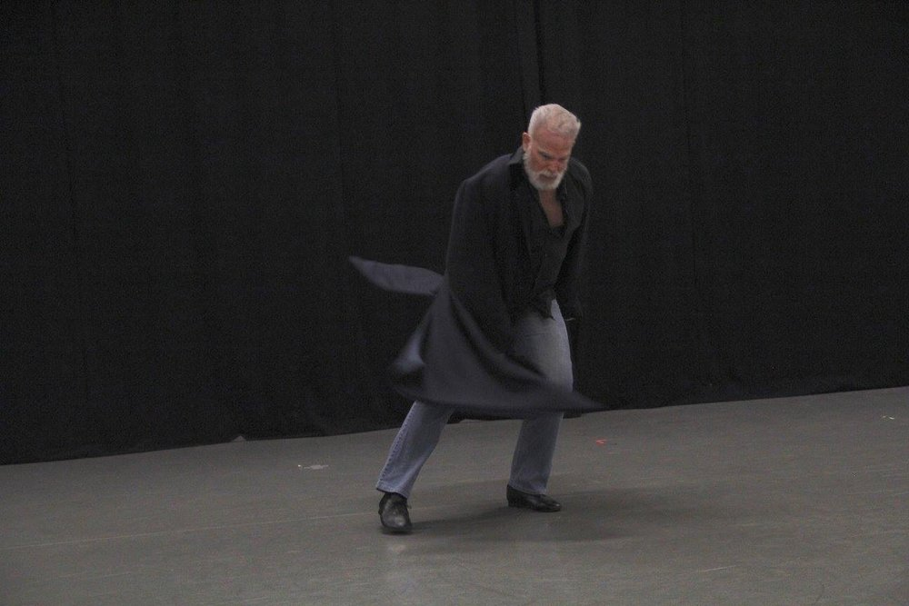 "Ken performing ""hAMLet"" - movement to Shakespeare's Hamlet Monologues at TURF in Santa Barbara, November 2016 (photo: Kathee Miller)"