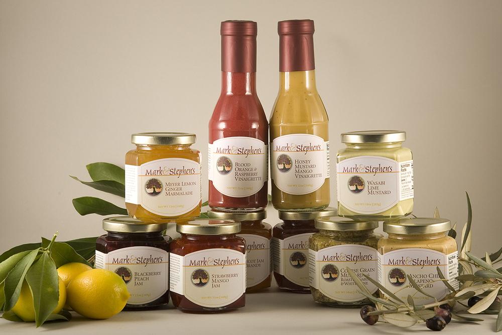 Mark and Stephen's handmade jams, jellies, marmalades, mustards and vinaigrettes