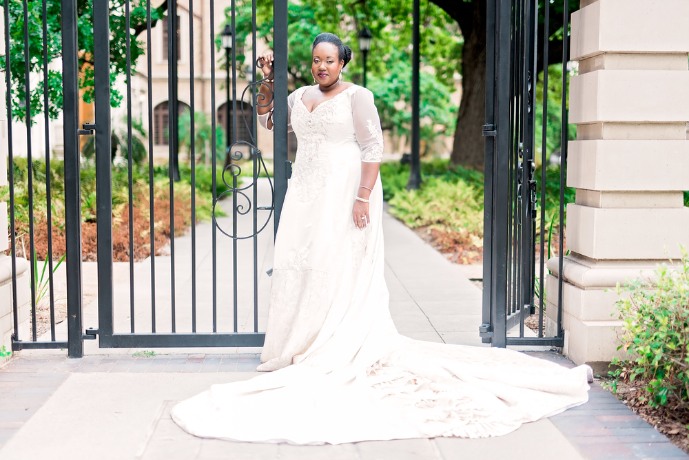 Houston Wedding- Bridal Session- Pharris Photography- Texas Photographer- Long Sleeve Wedding Dress