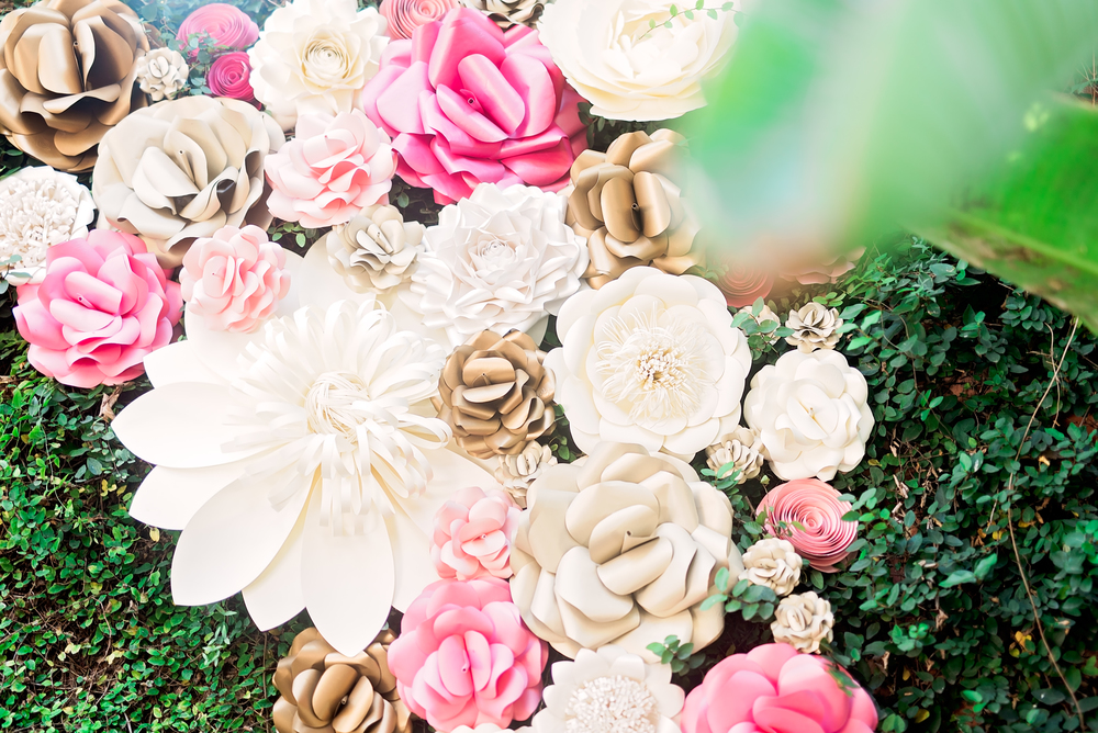 Yvonne and Mark- Houston Wedding- Texas Photographer- Pharris Photography- Flower Wall