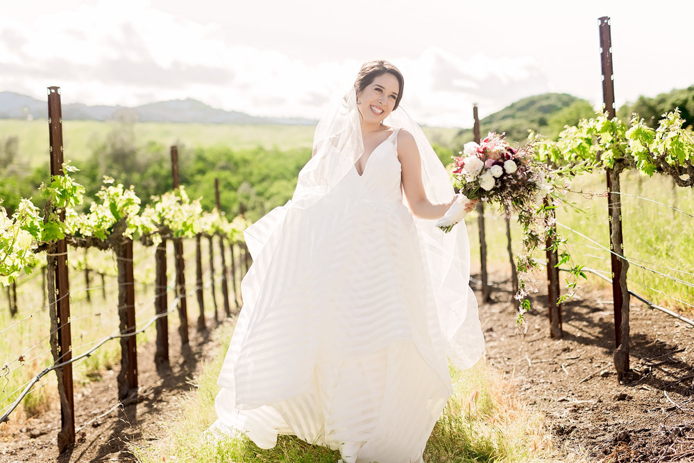 Vineyard- California Wedding- Pharris Photography- Texas Photographer- Rachel and Sergio- Wedding Dress