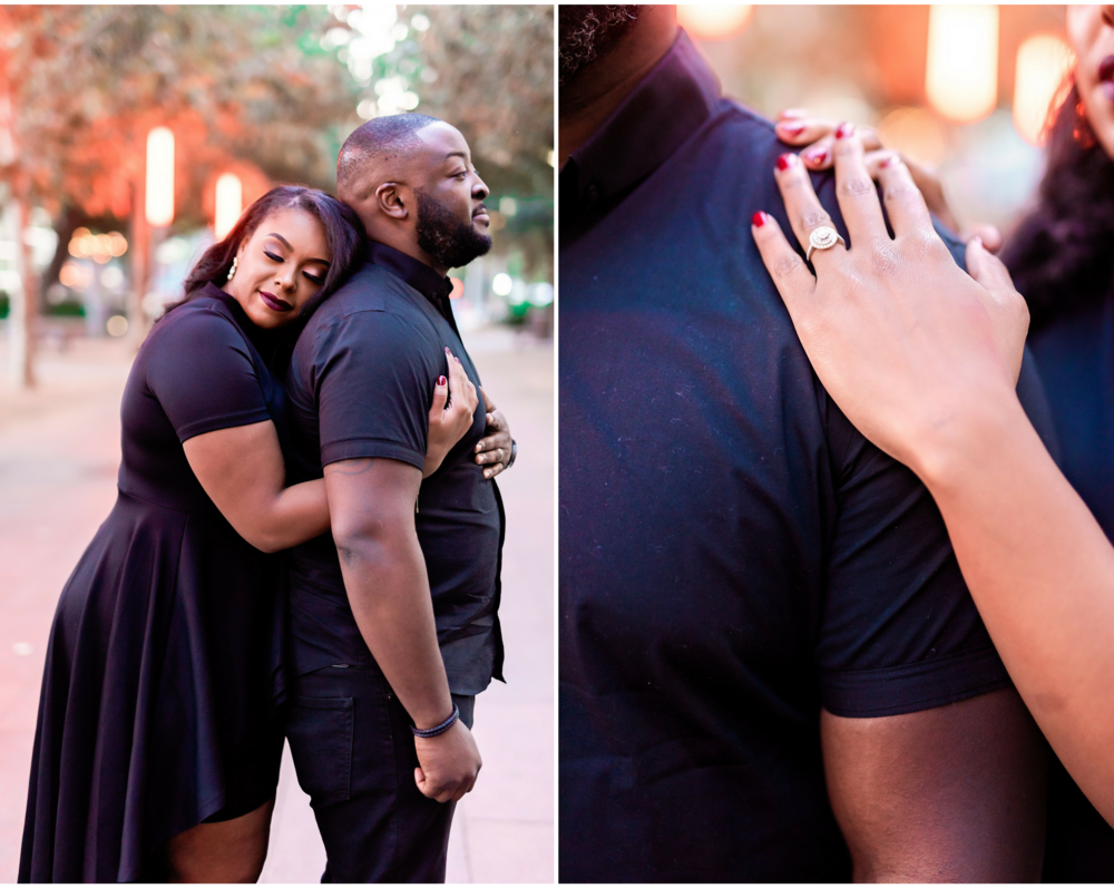 Downtown Houston Engagement- Engagement Session- Texas Photography- Pharris Photography- Arlena and Chisom- Engagement Ring