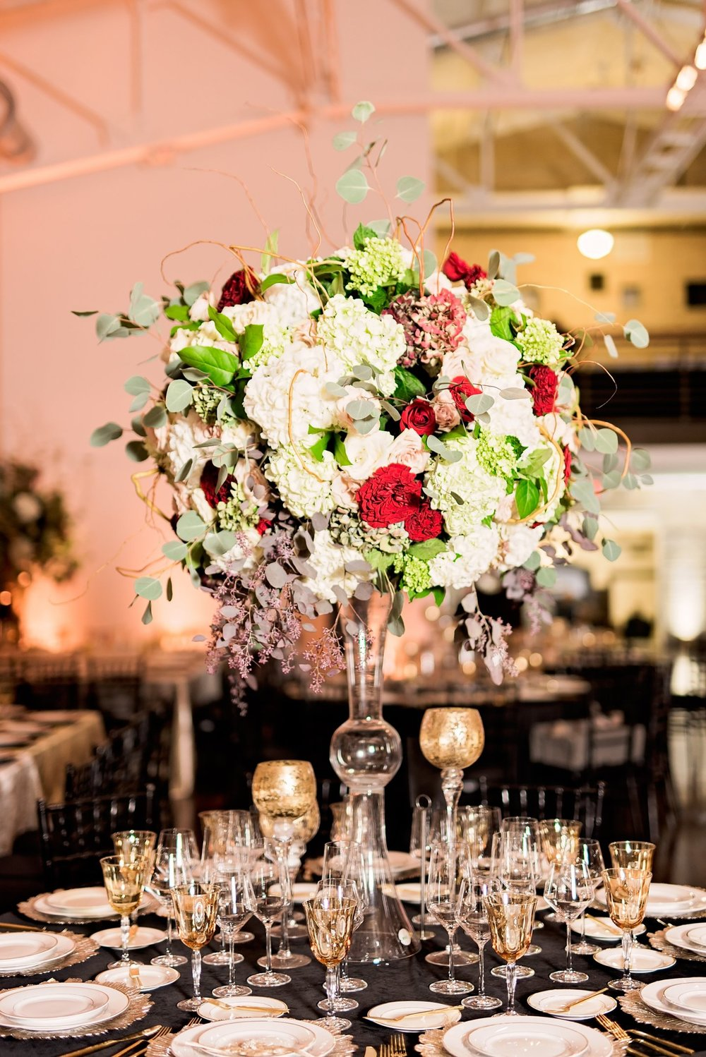 Black Southern Belle- Texas Wedding- Pharris Photography- Gina + Andre- Floral Arrangement