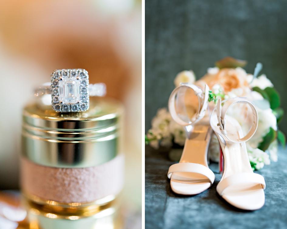 Pharris Photography- Texas Wedding- Noelle + Sullivan- Wedding Details- Shoes- Wedding Ring