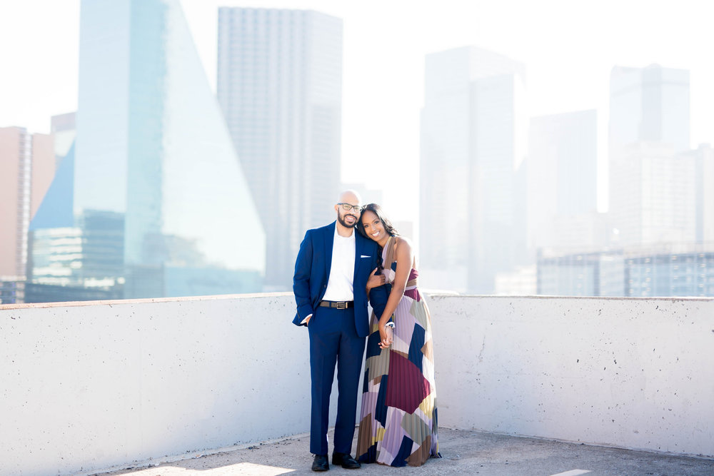 Pharris Photography- Engagement Shoot- Rooftop Engagement- Sophia + Ahmed- Cityscape