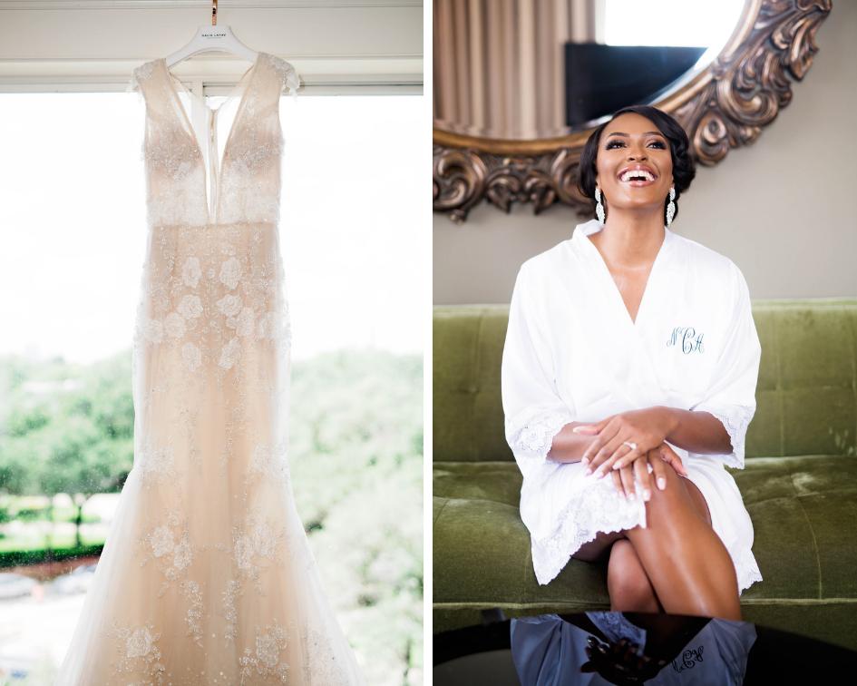 Houston Wedding- Pharris Photography- Nicole + Mike- Getting Ready- Wedding Dress