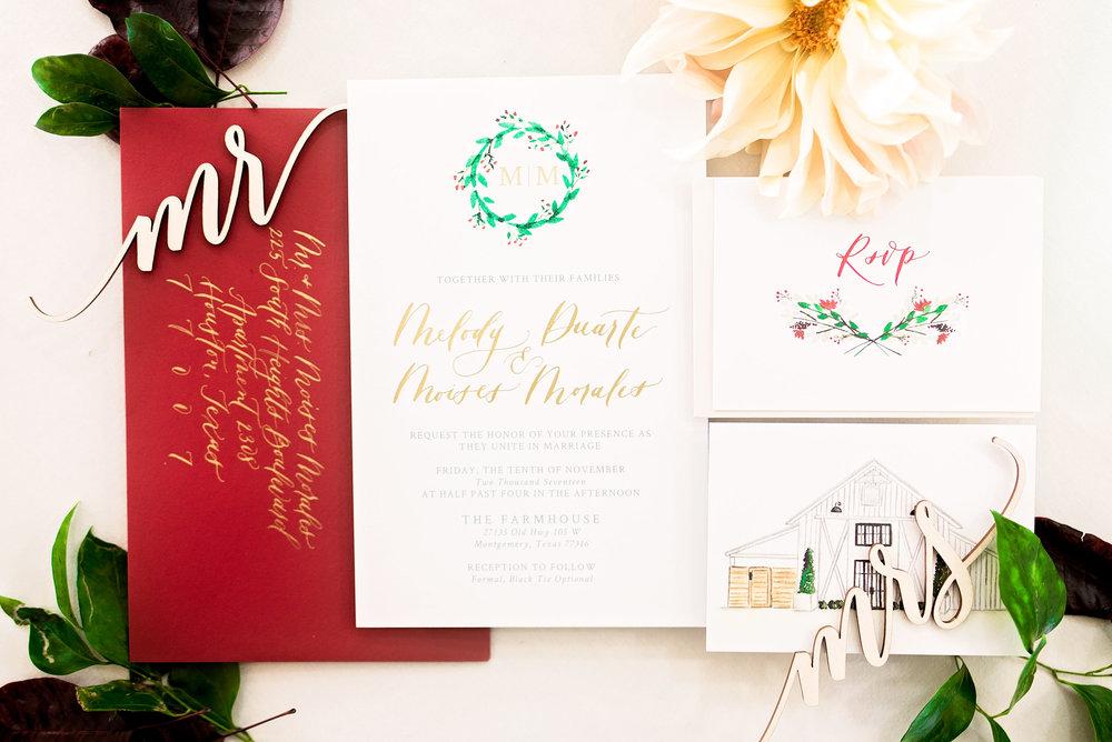 Pharris Photography- Texas Wedding- Melody and Moses- Wedding Details- Wedding Invitations