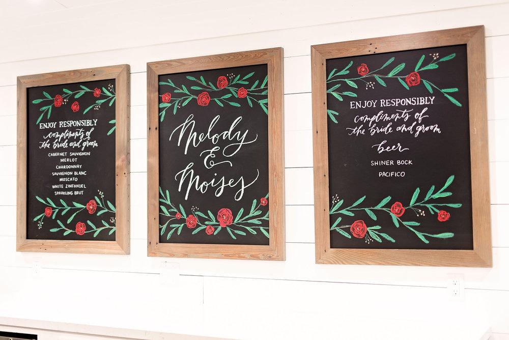 Texas Wedding- Pharris Photography- Melody + Moses- Wedding Details- Drinks- Menu
