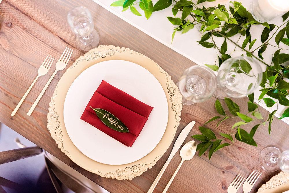 Texas Wedding- Pharris Photography- Melody + Moses- Wedding Details- Table Setting