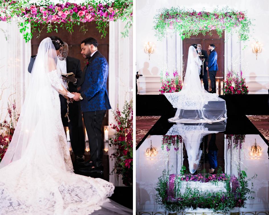 Pharris Photography- Houston Wedding- Krystyn and Joshual- Texas Wedding- Lace Wedding Dress- Florals