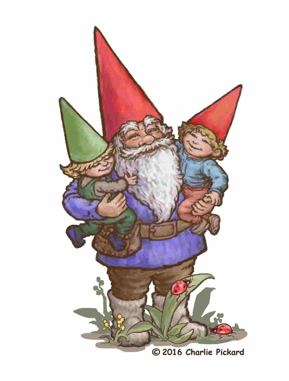 Master Gnome with his Children