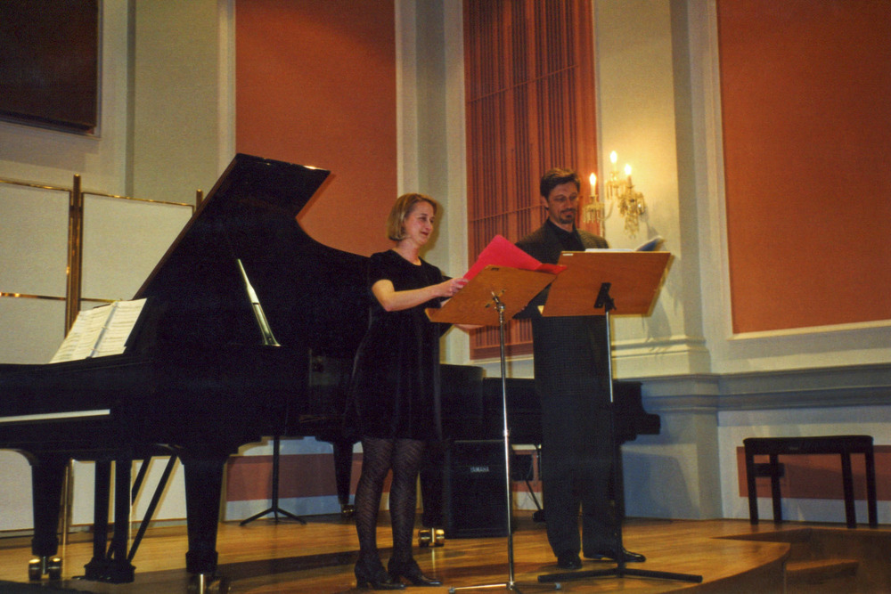 Performing with Paul Berkolds in Brno, Czech Republic