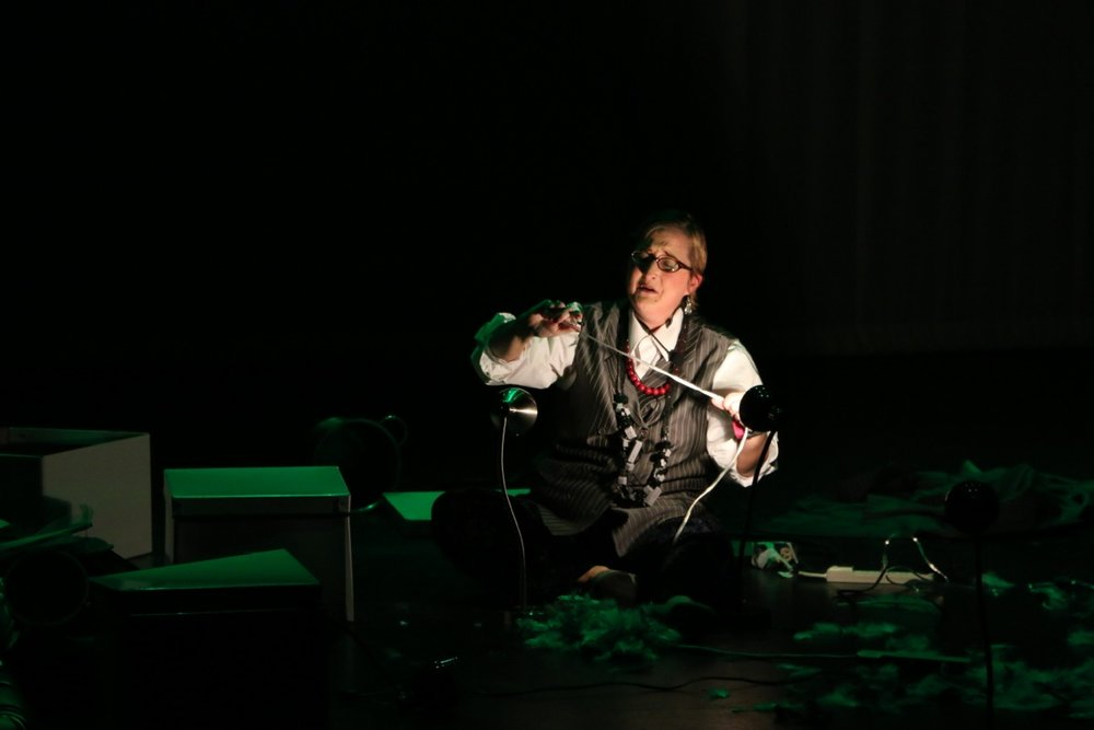 "Performing ""Dada Divas"" in Monterrey, Mexico"