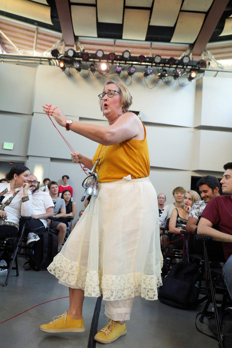 "Performing ""Embroidery"" from ""Dada Divas"""