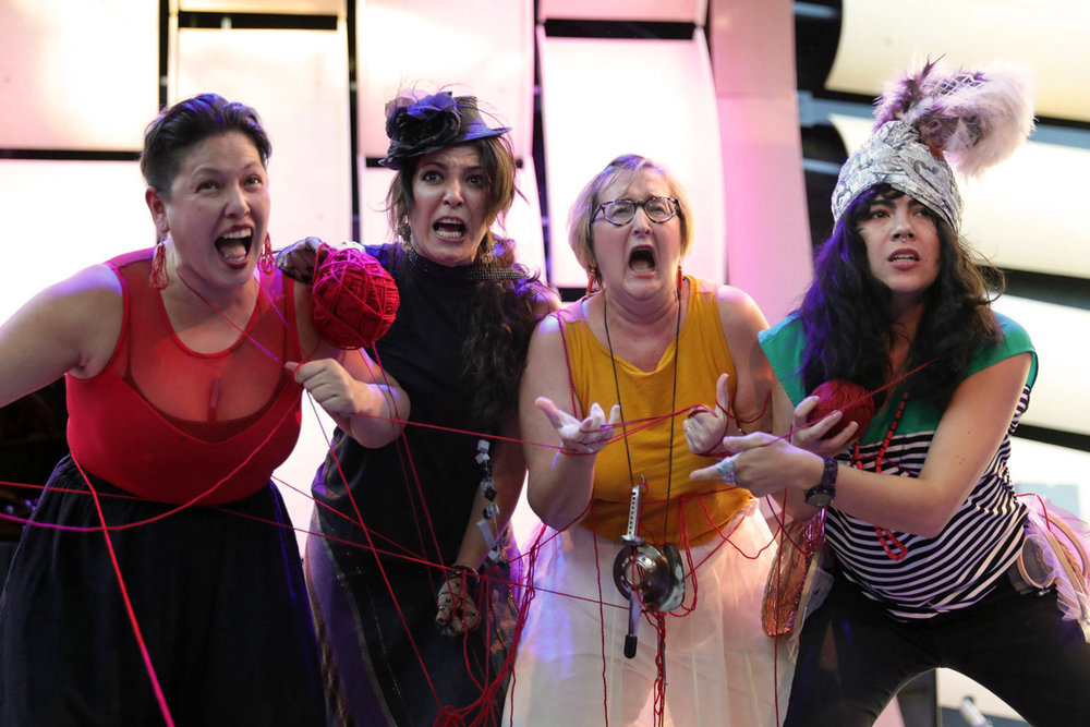 "With Carmina Escobar, Meltem Ege, and Micaela Tobin in ""Dada Divas"""