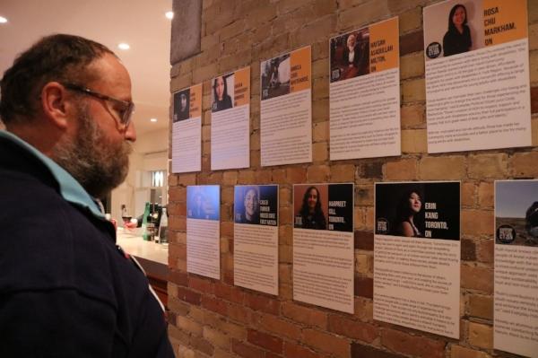 EPCitizen profiles on display at Samara's Civicus event. Photo:  Samara Canada