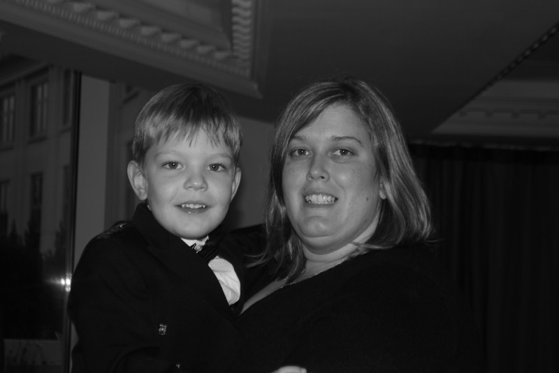 Sue with her healthy and strong baby boy.
