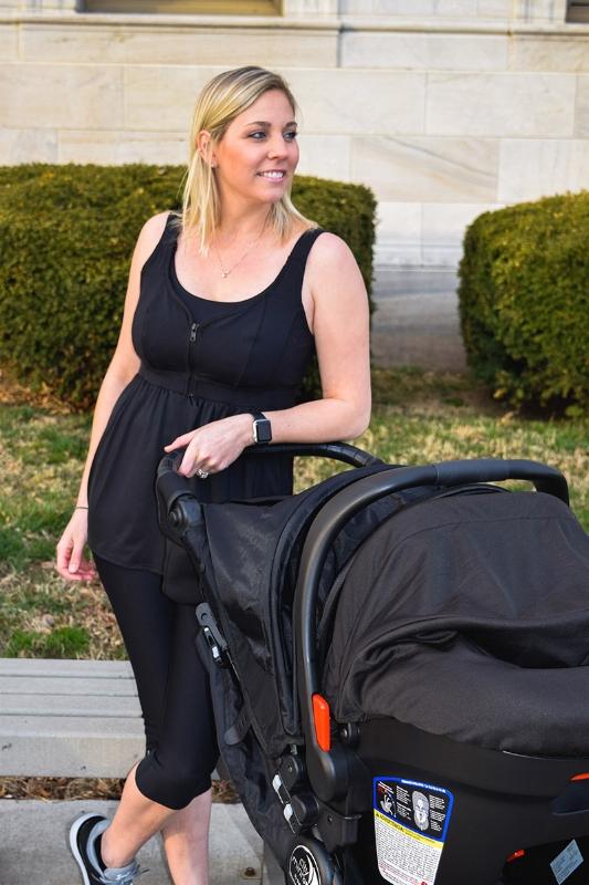 mom-with-stroller-wearing-nursing-tank-top