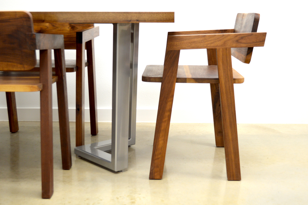 Dining table, dining chairs
