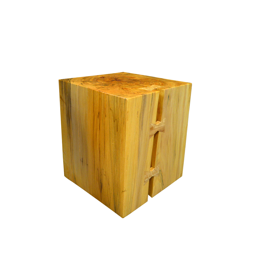 Solid Cypress Stool