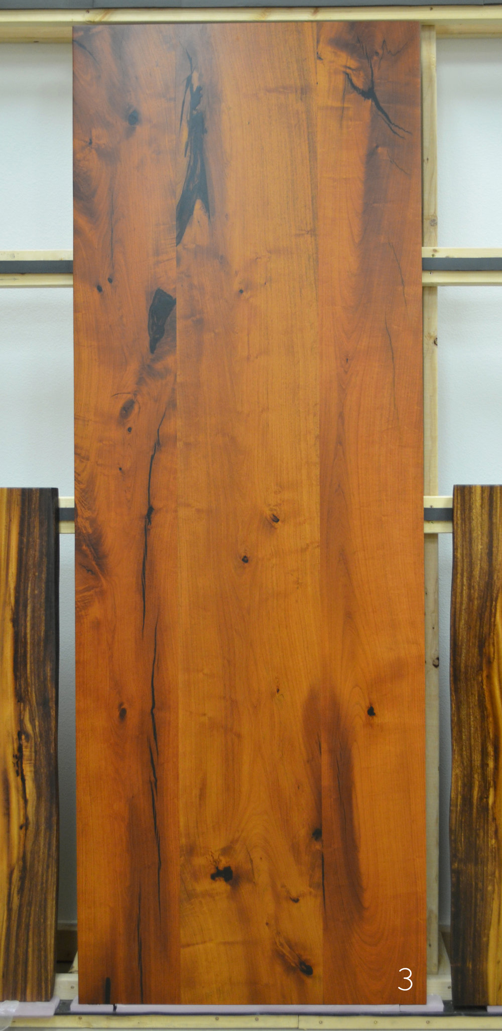 Mesquite dining table slab with straight edges