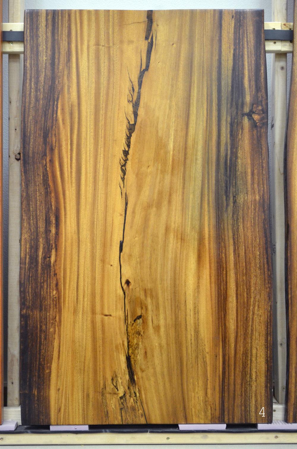 Koa natural edge wood slab