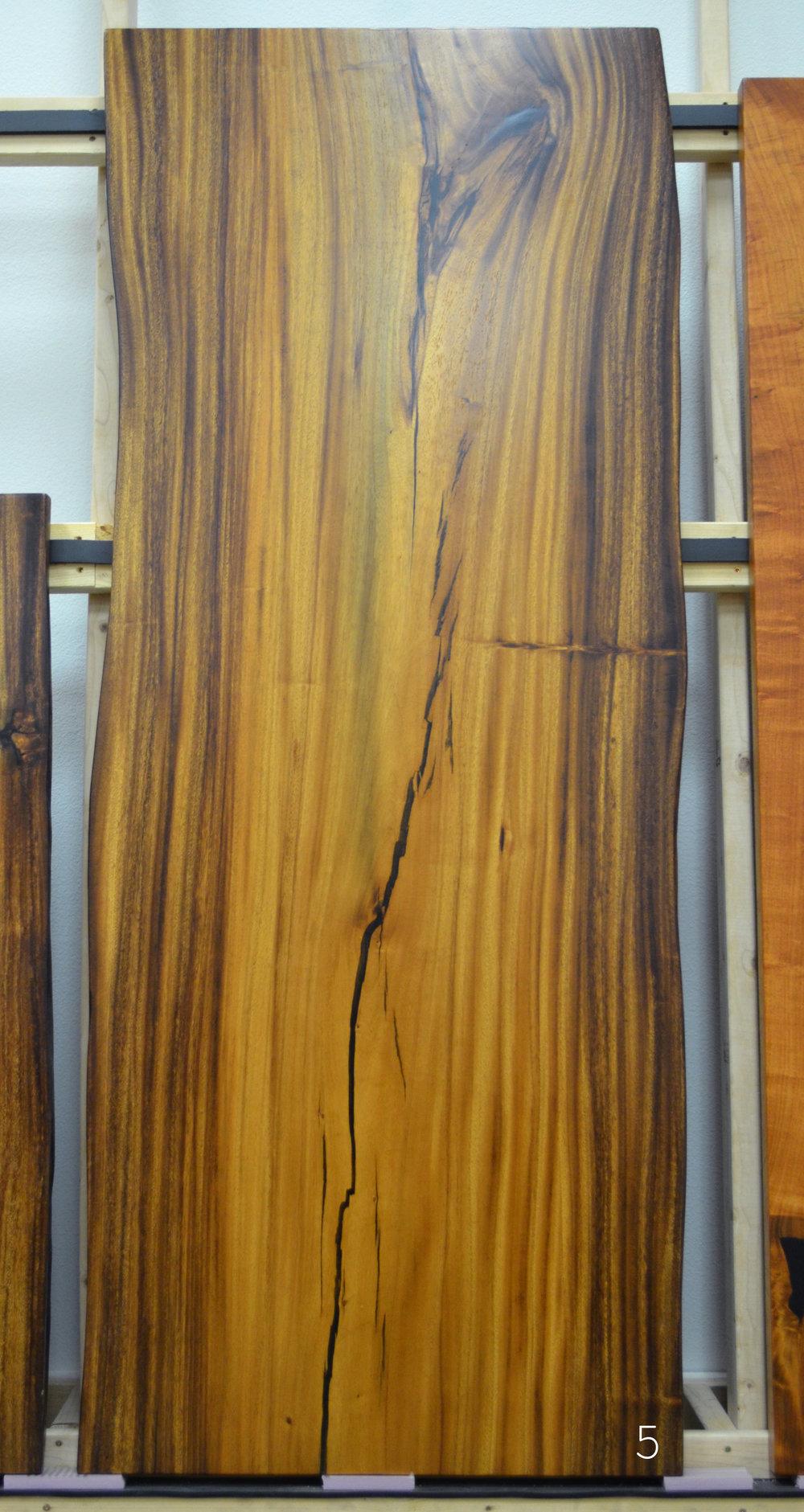 Large Natural edge wood slab - Koa