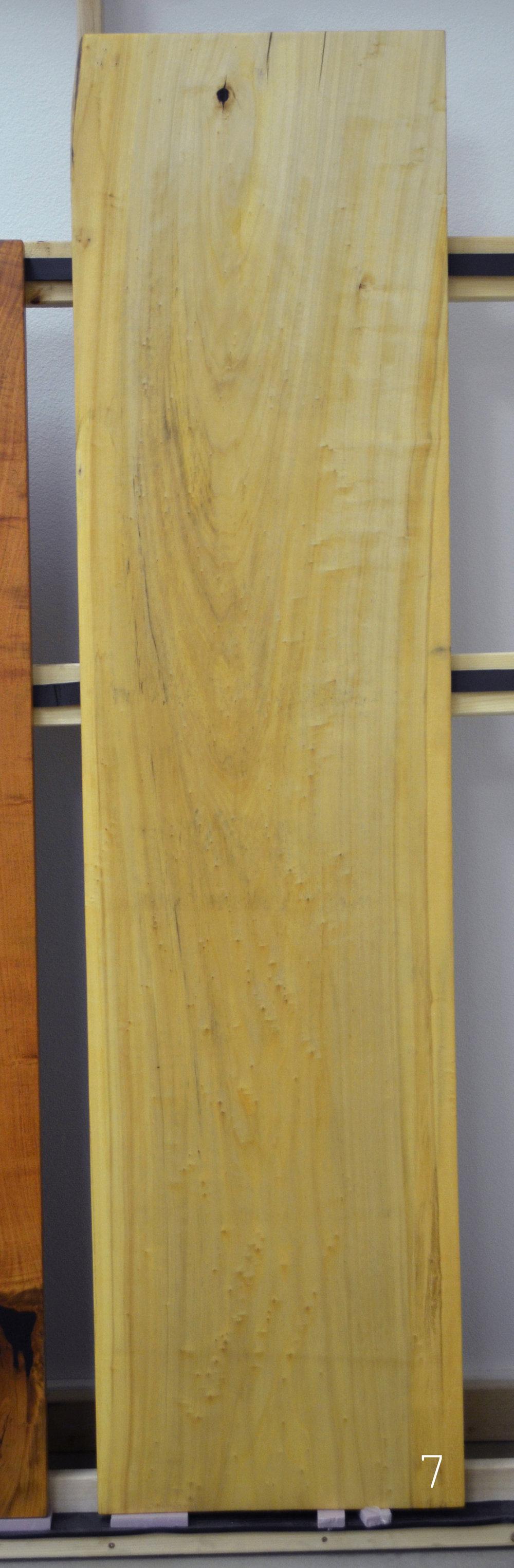Live edge cottonwood slab