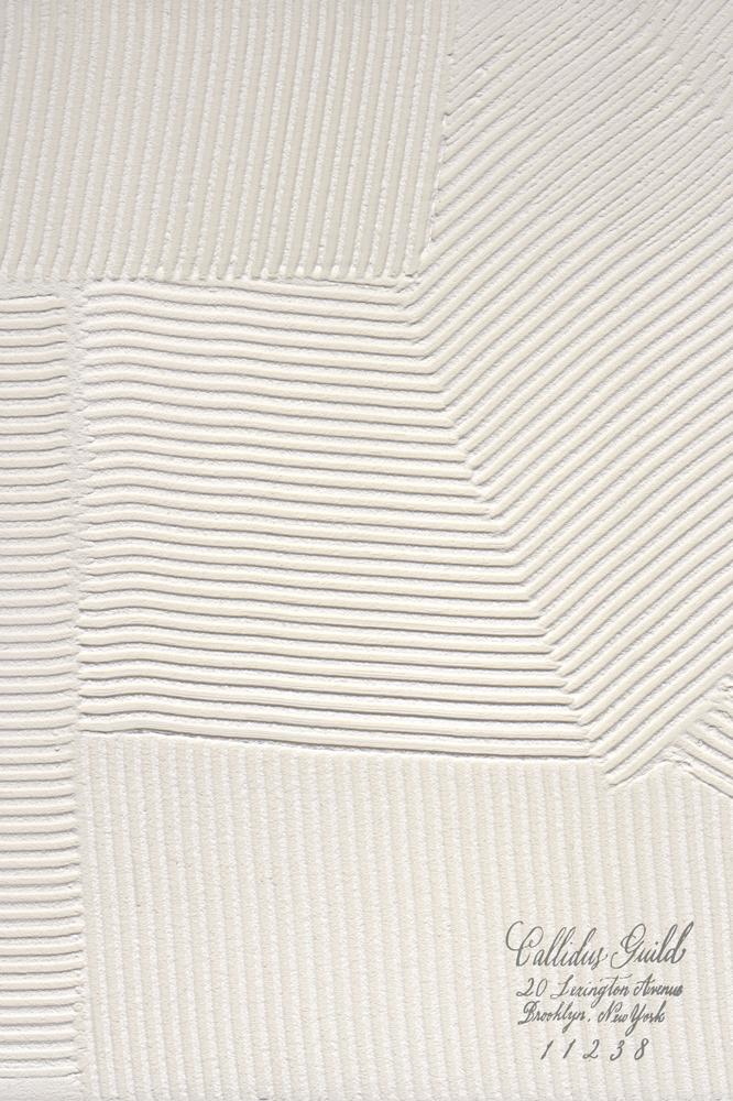 PL-1503 Combed Plaster - Dove White
