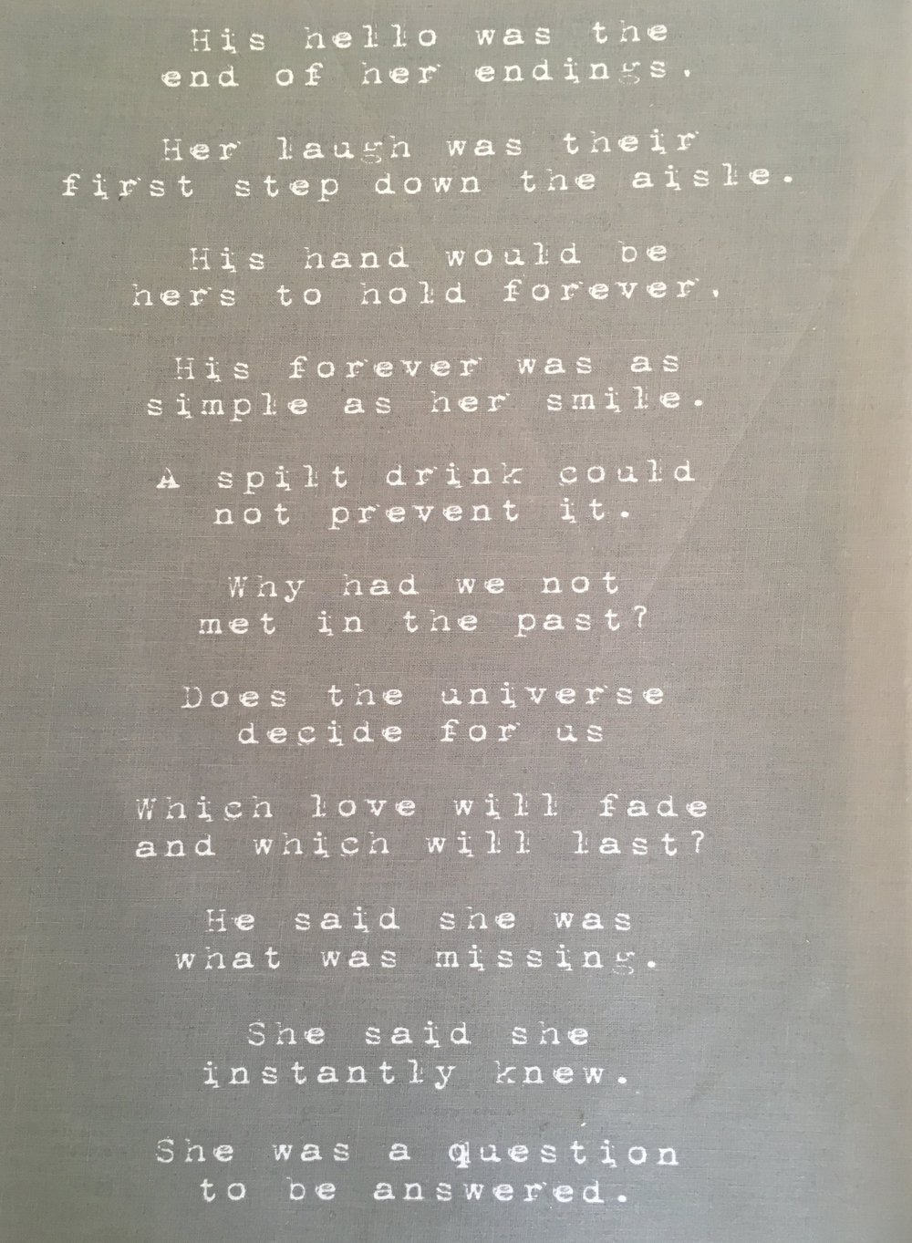 Wedding Poem - SATC