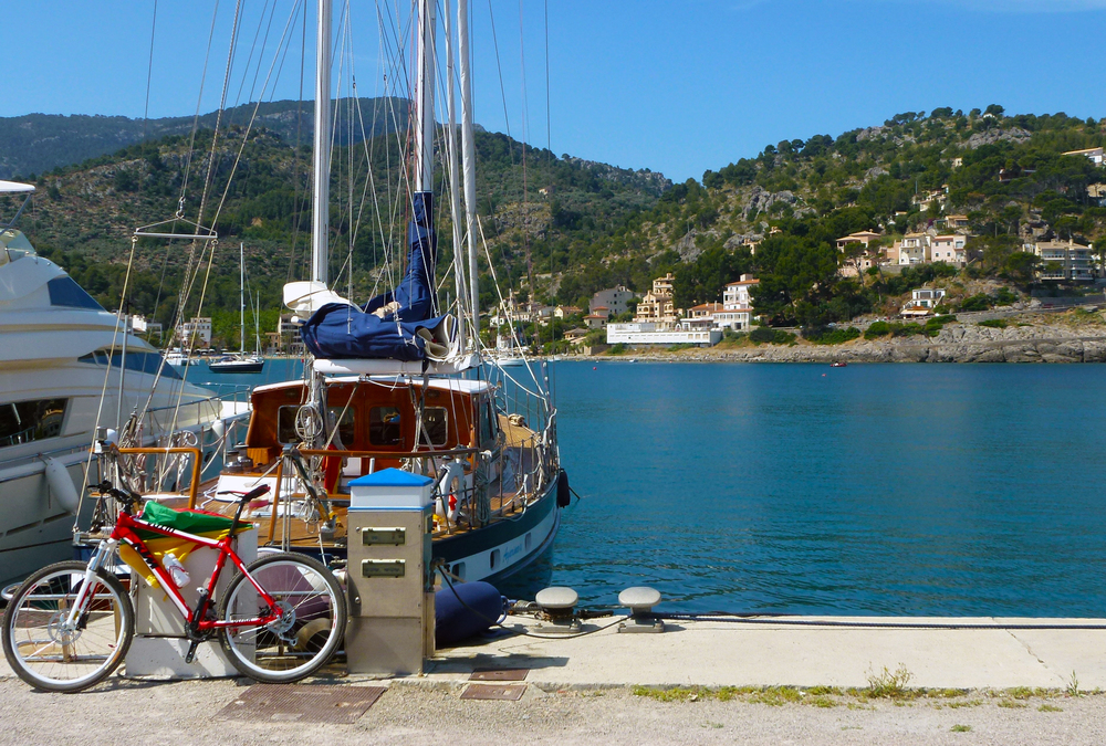 Bike and boat at Port de Soller, Mallorca. Published in 2014's Spiritus Mundi, CSU's Honors literary magazine.