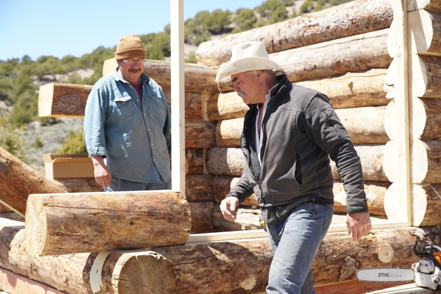 """Marty Raney, right, helps Don Garcia construct a greenhouse on the season finale of """"Homestead Rescue."""" Photo provided by Discovery Channel."""