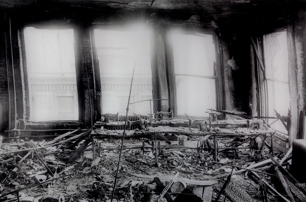 Vintage photo from Triangle Shirtwaist Fire archives