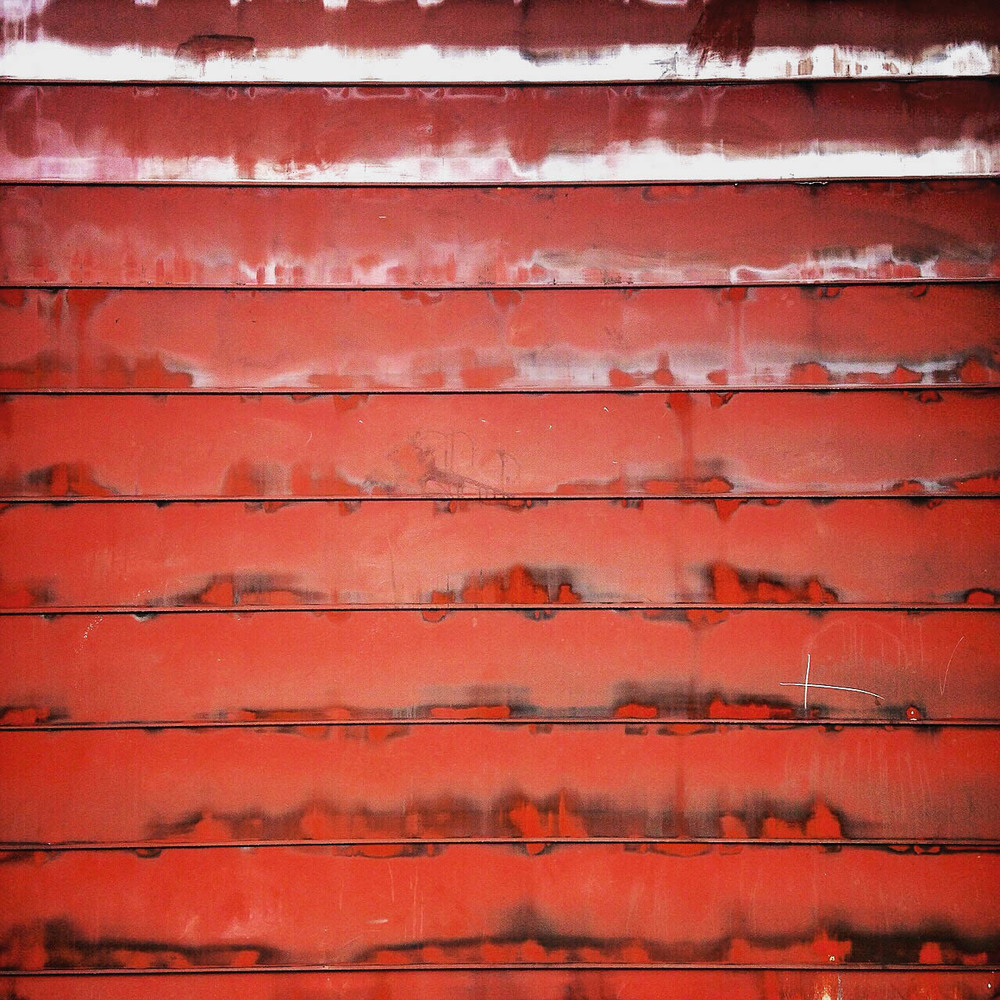 little did the firemen know that they were making the firestation door a Gerhard Richter