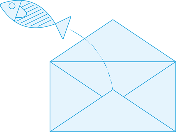 real phishing isn't nearly as cute as this icon