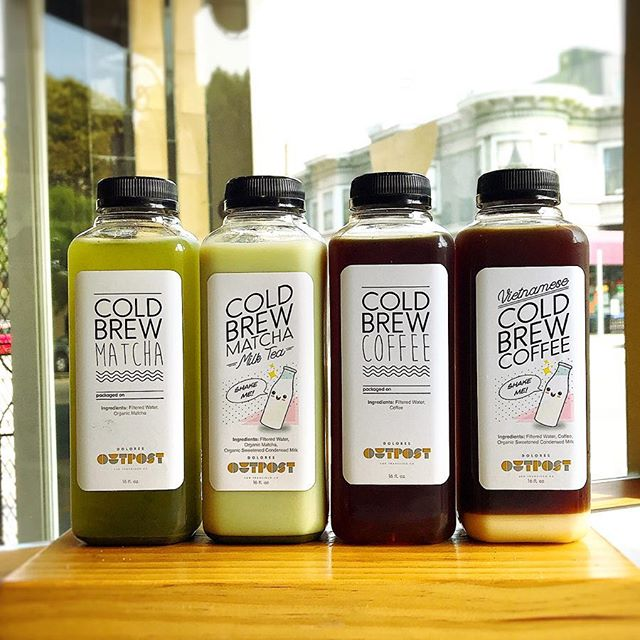 i'm super stoked to present my line of tasty summer bevvies, sold exclusively at @doloresoutpost 🍵 ☕️