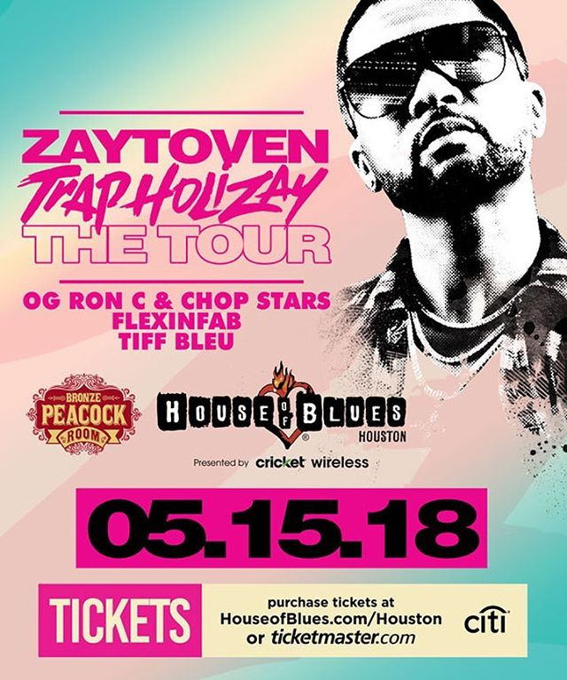 Wanna go see @zaytovenbeatz & @ogronc tomorrow at @hobhouston ? Dm your name and # of guests & you in there playa...