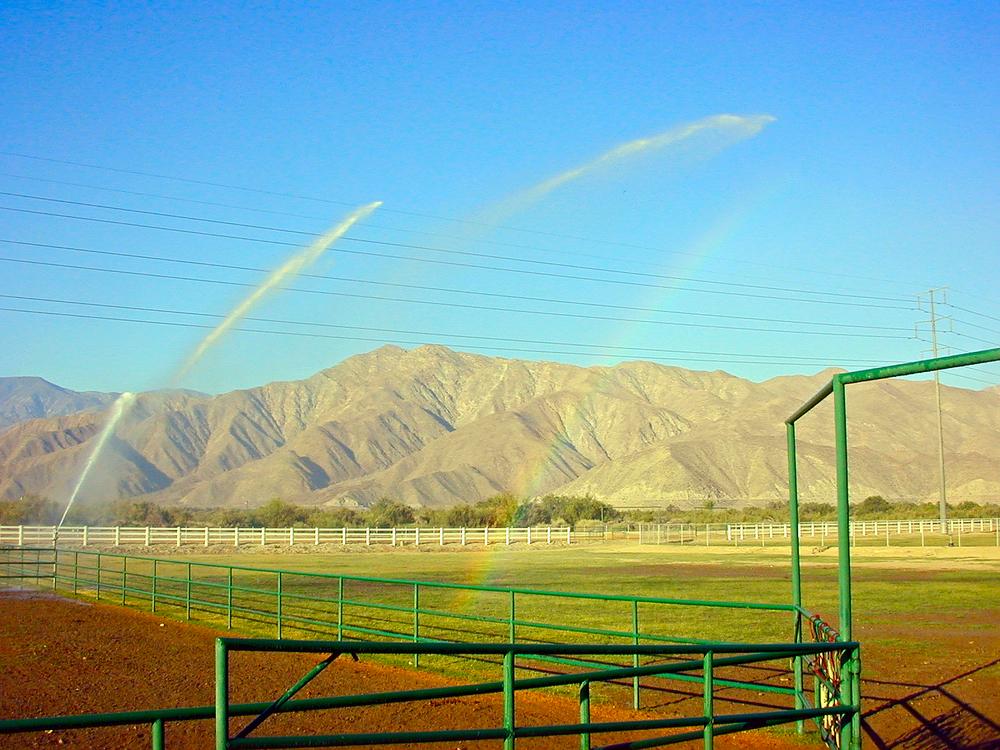 Big Gun Sprinklers used to Irrigate Polo Fields
