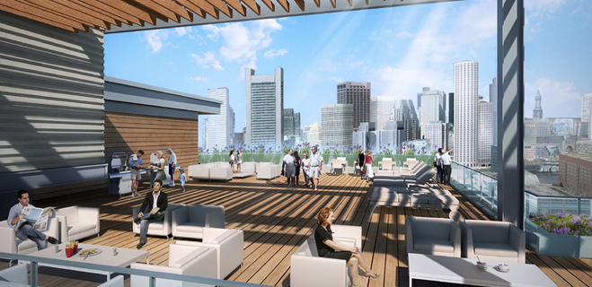 Roof Terrace | Watermark Seaport, 85 Seaport Blvd, Boston