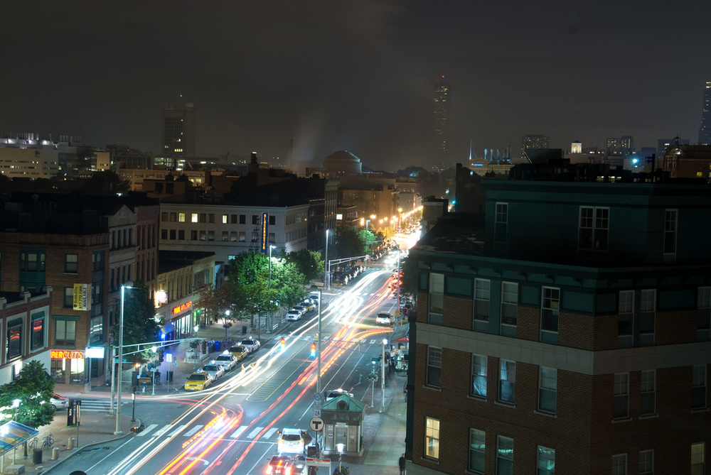 Central Square at Night | Mass+Main, Cambridge, MA