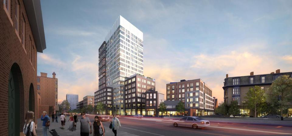 Twining Properties will soon begin construction on Mass+Main, a 285-unit apartment complex in Central Square in Cambridge after receiving approval from the city Planning Board Tuesday.