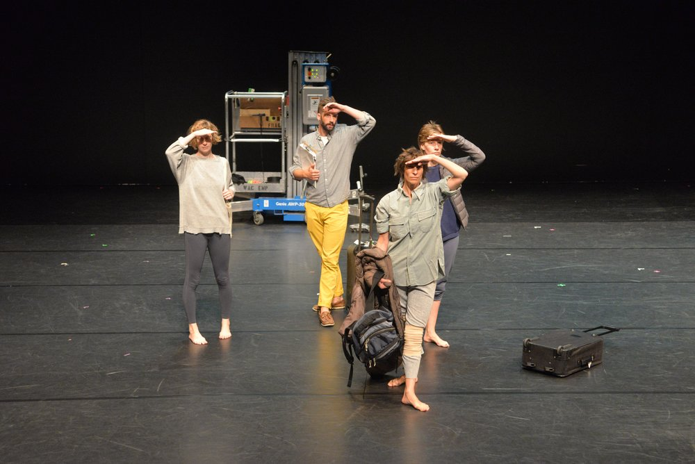 L to R: Jessica Cressey, Max Wirsing, Krista Langberg, Joanna Furnans.Photo: Sean Smuda.